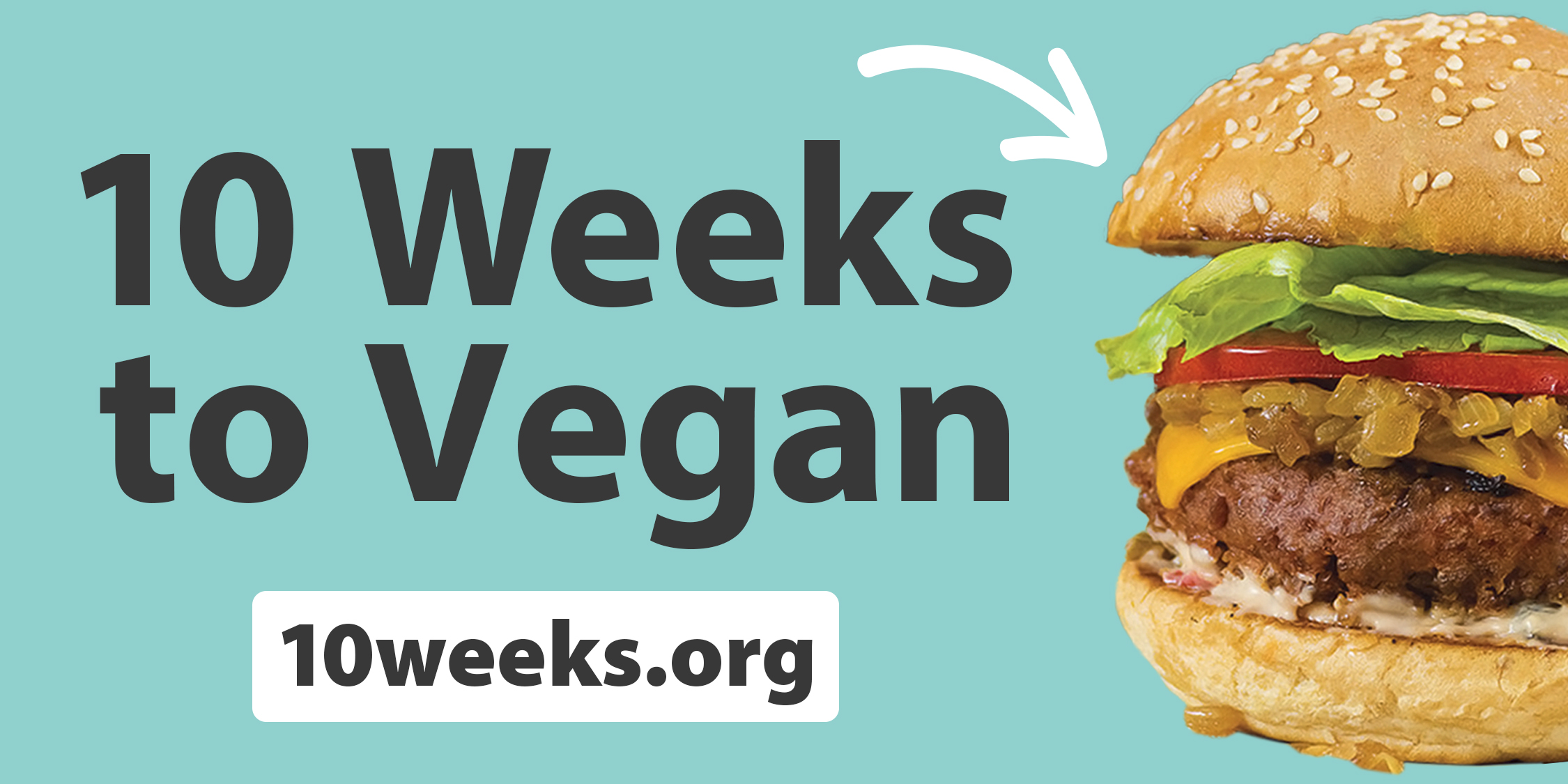 Bumper Sticker – 10 Weeks to Vegan w/ URL