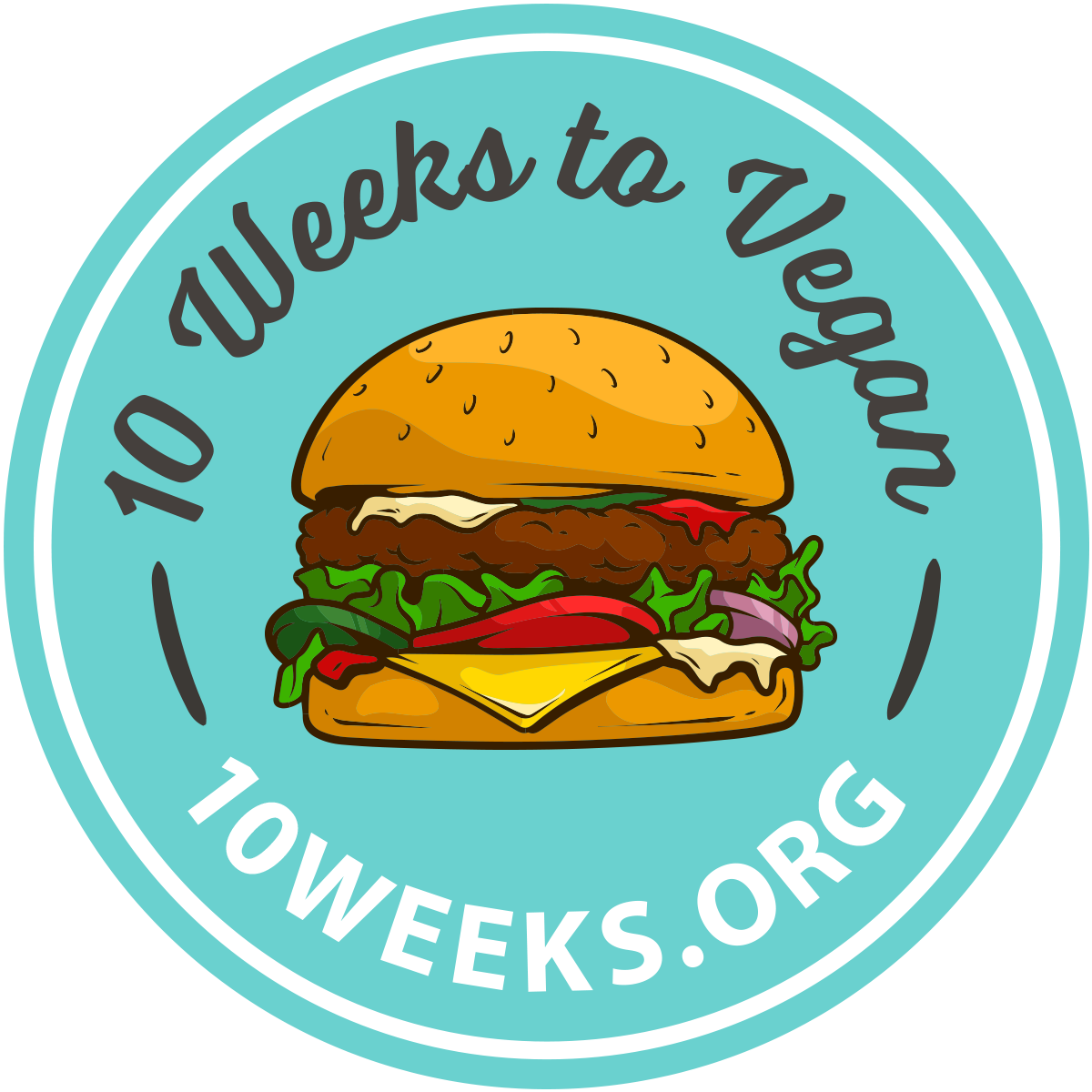 Sticker - 10 Weeks to Vegan w/ URL