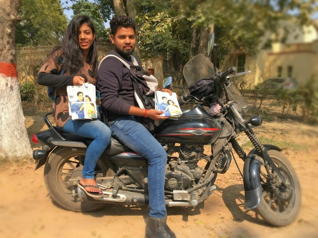 Leafleting on Motorbike