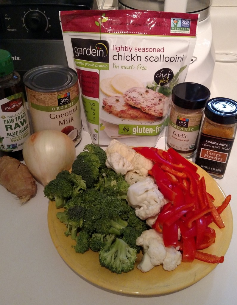 Chick'n curry ingredients