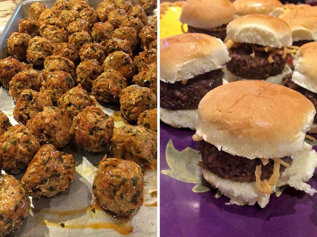 Asian Chicken Meatballs, and Sliders with MATCH Meats