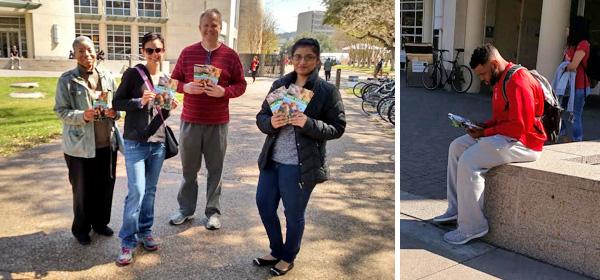 Alma Williams, Lori Stultz, Michael Battey, Ayesha Mohiuddin, and reader at UH