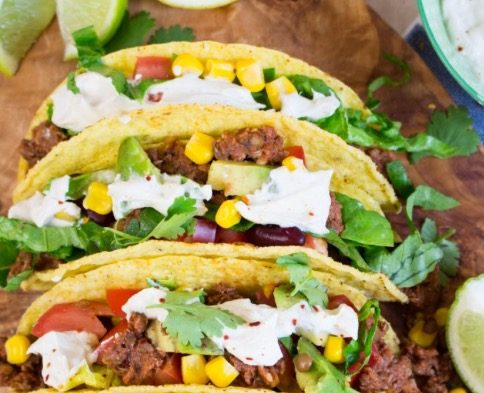 Tacos with Walnut Taco Meat