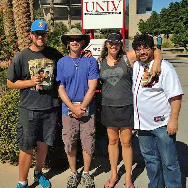 Vic Sjodin, Gary, Elaine Vigneault, and Ed Miller at UNLV