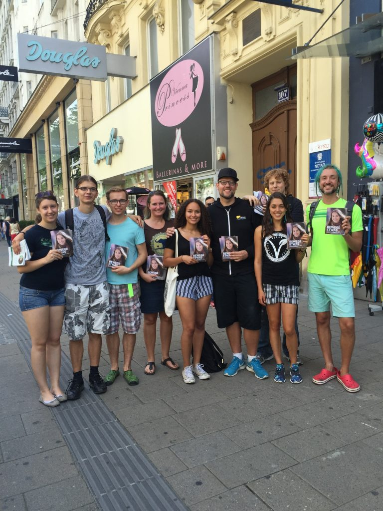 Group Leafleting in Vienna