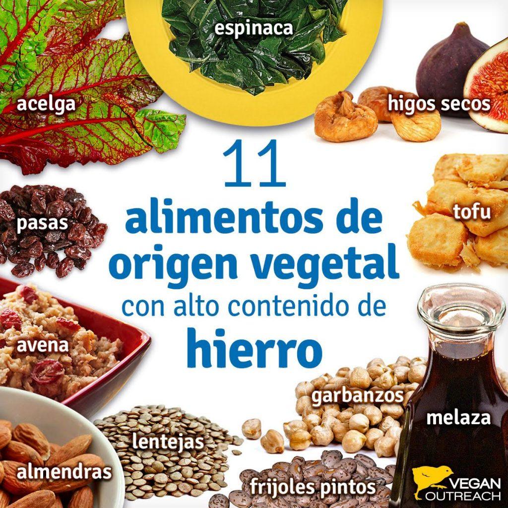 comidas que contienen hierro para ninos