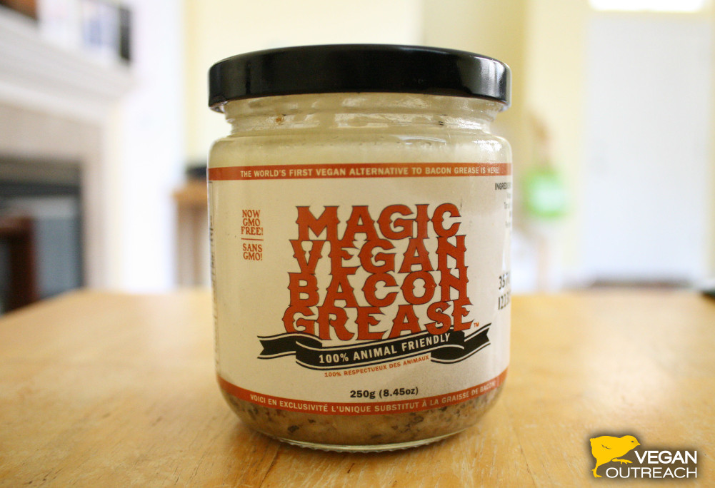 Magic Vegan Bacon Grease Review from Vegan Outreach!