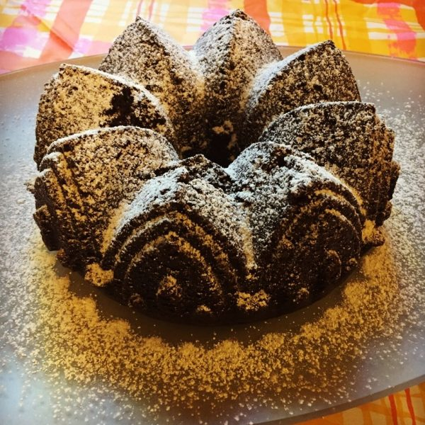 Lower Fat Chocolate Bundt Cake