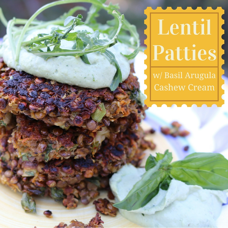 Recipe for Lentil Patties and Basil Arugula  Cashew Cream on the Vegan Outreach blog!