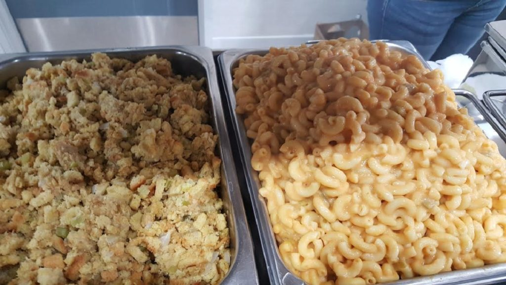 Cornbread Stuffing and Vegan Mac and Cheese