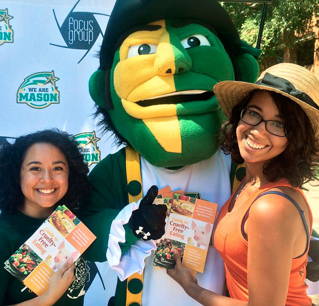 Mia Amado and Kassy Ortega at GMU