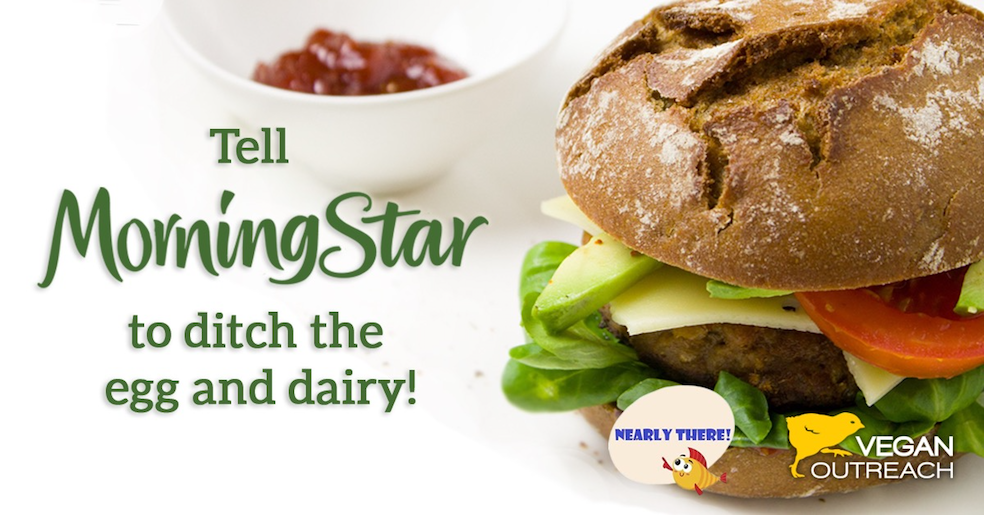 Tell Morningstar to make their Garden Veggie Burger vegan