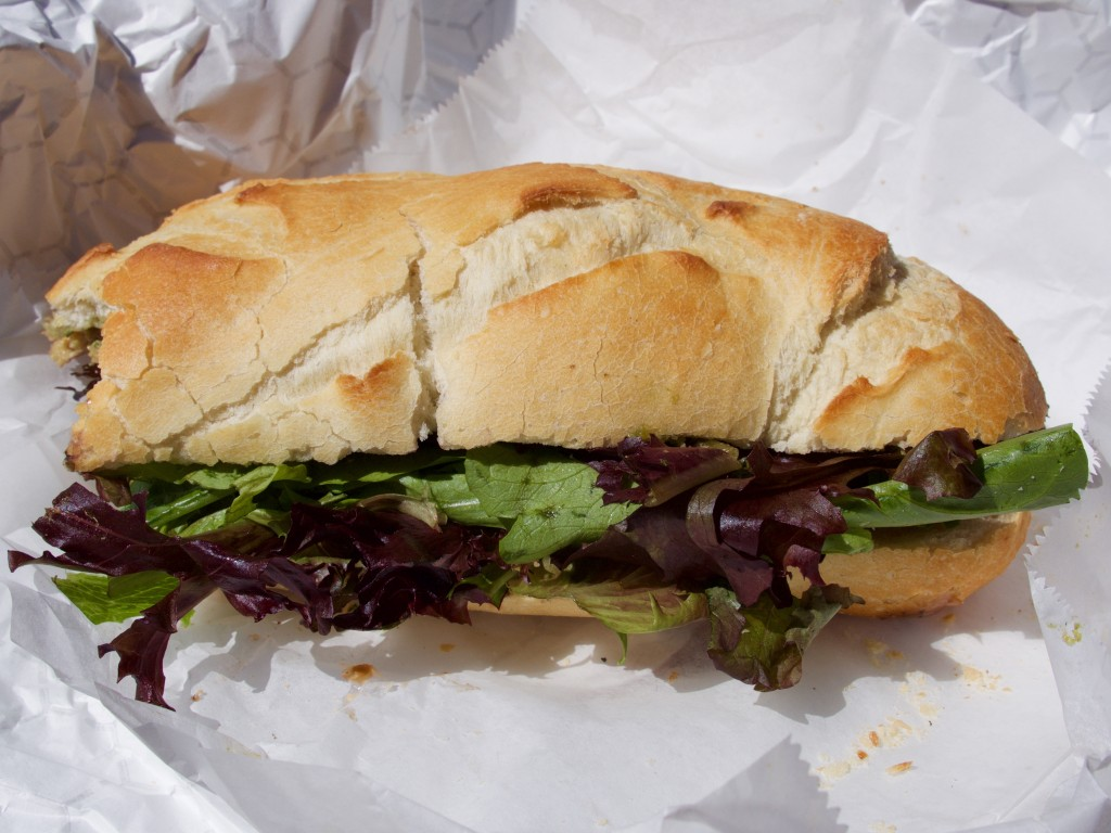 Pesto Sub (partially eaten due to hunger)