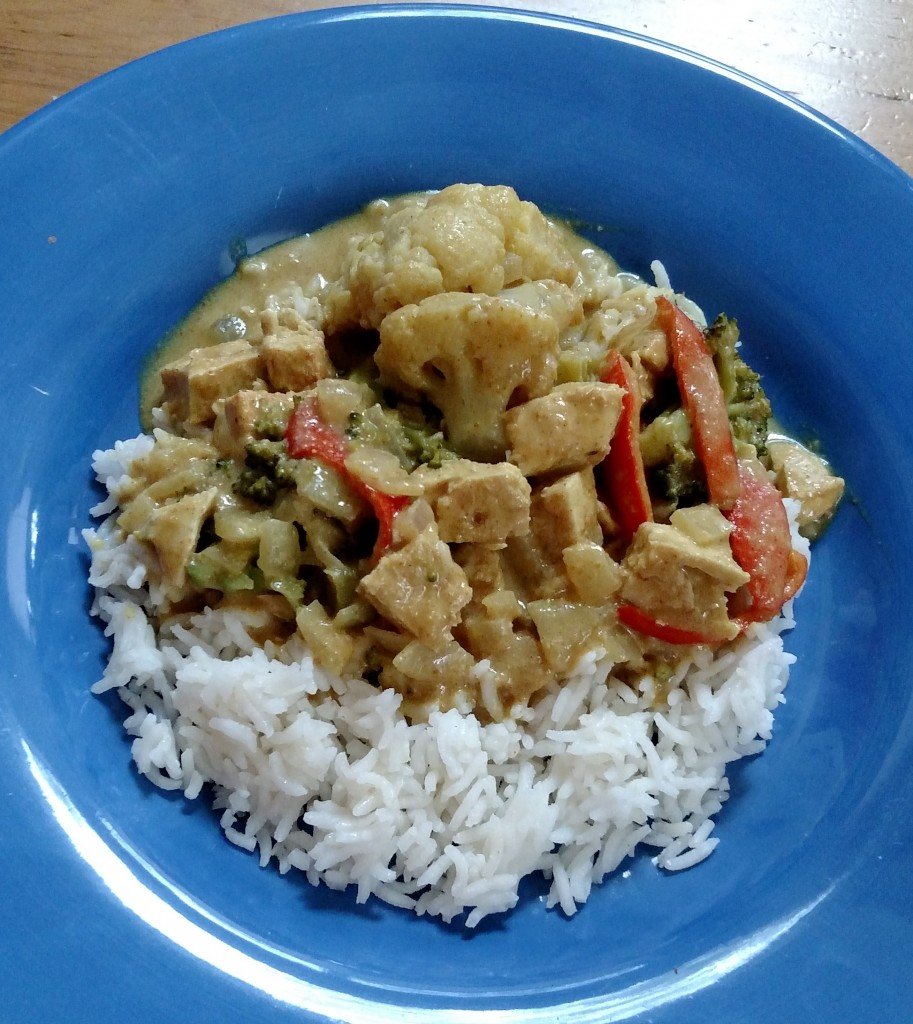 Chick'n Cauliflower Curry