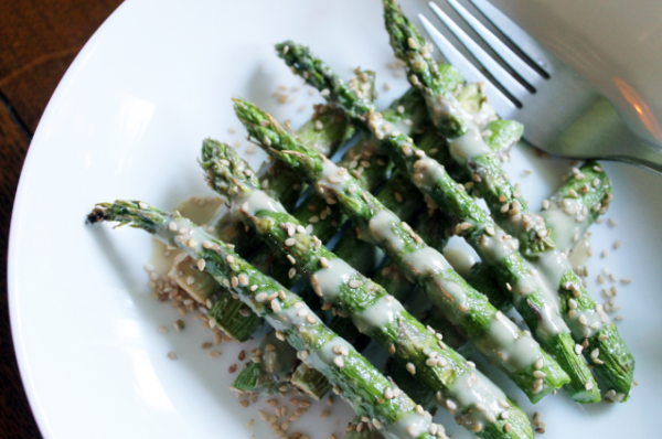 Seasme Drinched Asparagus