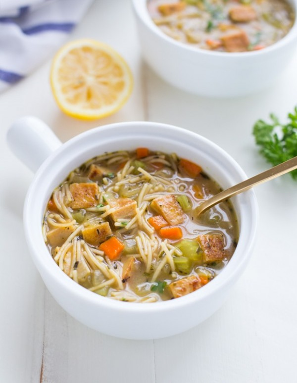 Tofu Chicken Noodle Soup
