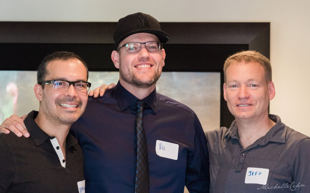 Pictured Left to Right: Andrew Rodriguez, VO Director of Outreach, Vic Sjodin, and Jeff Hoffman