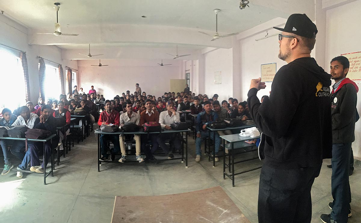 Vic Sjodin and Abhishek Dubey at Rama PG College