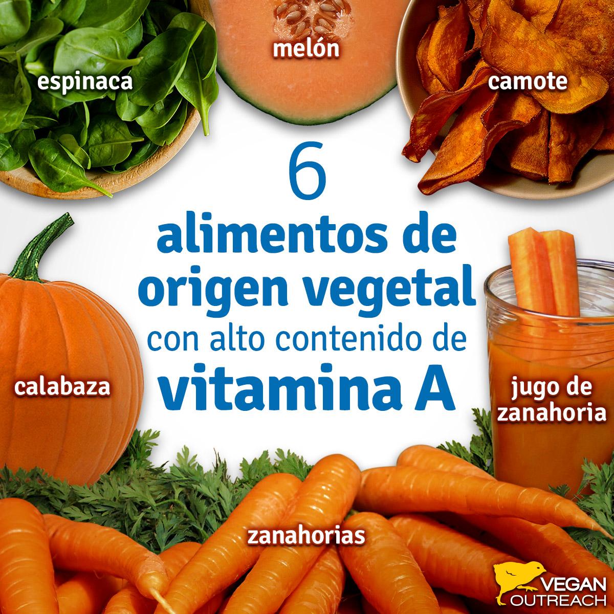 alimentos con vitamina a b c d e