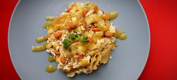 Tofu Chilaquiles recipe on Vegan Outreach!