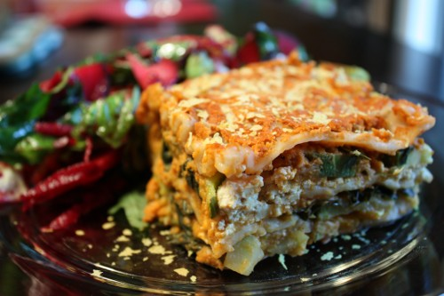"Recipe & Video: Two ""Cheese"" Veggie Lasagna"