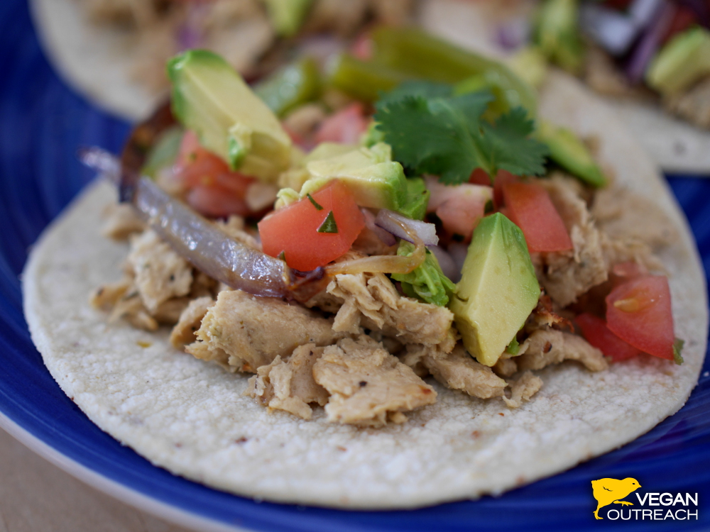 Tofurky Slow Roasted Chick'n Tacos!