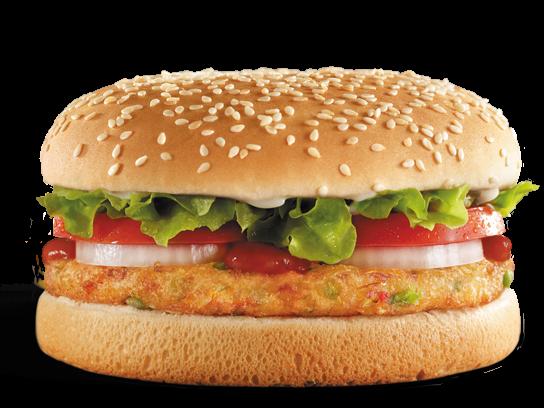Vegan Veggie Burger Fast Food