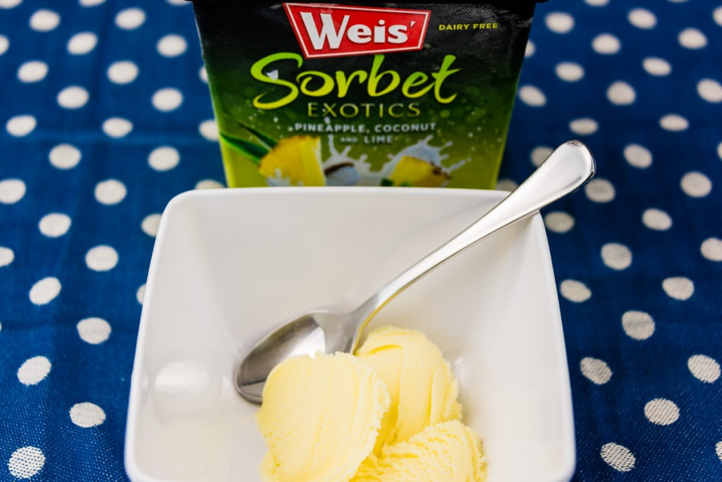 Weis' pineapple coconut lime sorbet