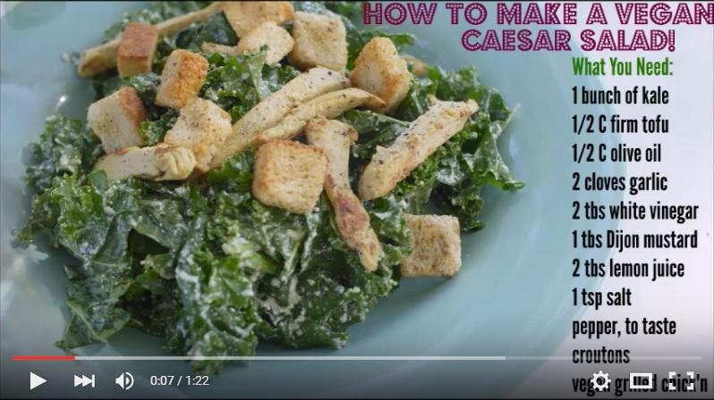 Learn to make a Vegan Caesar Salad!